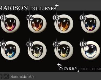 Marison Doll Eyes { Starry }  - Handmade Dollfie Dream Eyes  ( 20mm-24mm )