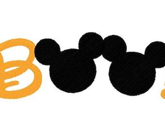 SVG, disney, mickey Boo, disney halloween, Halloween mickey ear, disney vacation, cut file, printable,  cricut, silhouette, instant download