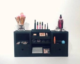 Wall Mounted Makeup Organizer | Makeup Organizer | Makeup Storage Shelf | Makeup Vanity | Makeup Case | Cosmetic Display | Makeup Brushes