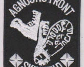 Agnostic Front punk hardcore embroidered patch