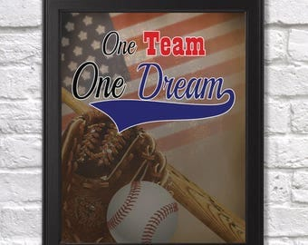One Team One Dream 8x10 Digital Print