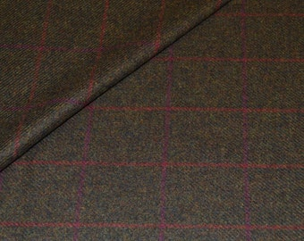 1670/13 Scottish Tweed Fabric 100% Wool Made In Scotland By The Metre