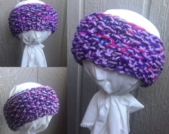 Knit Baby Headband--Knitted Headband--Baby Headwrap--Baby Headband--Knit Headband--Christmas--Purple--Thick Headband
