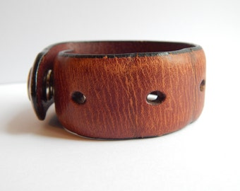 Men's distressed Leather Cuff Ready to ship