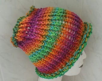 Dreadlock tube headband rainbow