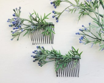 Wild Greens Floral Comb {set of two}