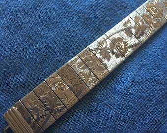 Vintage  Embossed Tin Bracelet
