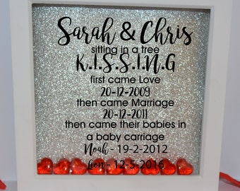 Glitter pictures, Engagement gift, present,Wedding gift for couple, Personalised Frame, boyfriend gift, girlfriend gift, Anniversary,