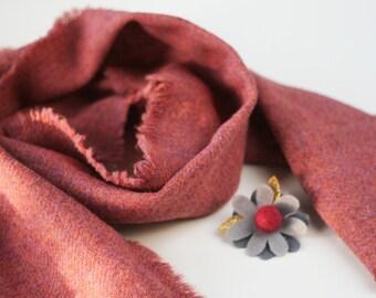 Flower Brooch Pink and Grey Floral Felt Brooch Gift Boutonnière