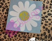 Daisy with monogram decal...