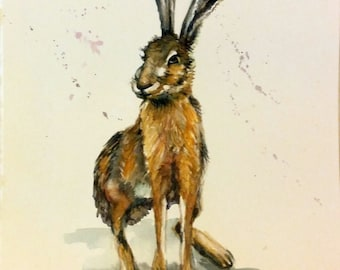"Original Water color painting, Rabbit, 10""x8"", 1611034, children art, fine art,"