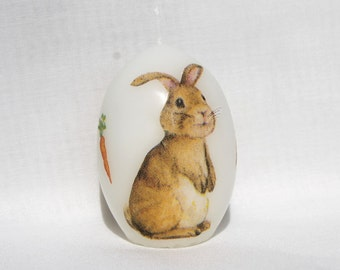 Eikerze Easter candle egg Easter egg Bunny knows Easter Bunny 6 cm Eisbaerchenmama