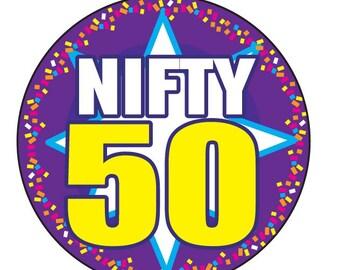 "NIFTY 50 BIRTHDAY Button 3"""