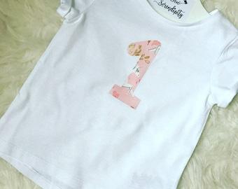 I am 1,2,3,4,5 Unicorn Number T-Shirt, Unicorn Number Top, Unicorn Birthday T-Shirt - Birthday T-Shirt - Matching Free Bow!