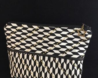 Elaborate fabric bag perfect for makeup