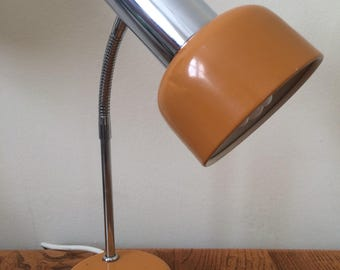 1960s French desk lamp - Orange / Chrome