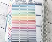 S-331 ||  Round Corner Skinny (Light) Header Label Stickers for Planner (75 Removable Matte Stickers)