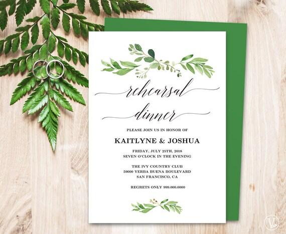 wedding rehearsal dinner invitation card template printable. Black Bedroom Furniture Sets. Home Design Ideas