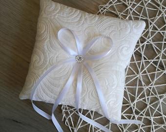 Gorgeous Ring pillow Wedding ring pillow Ring Bearer ivory ring pillow  Ring pillows