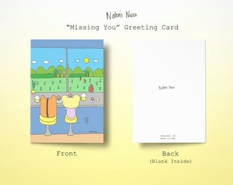 Missing You Blank Handmade Greeting Card Missing You / Friends / Get Well / Thank You