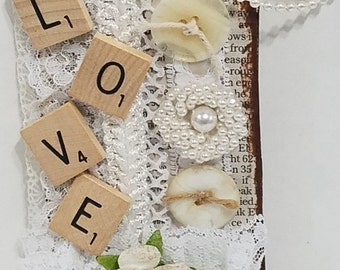 Altered, Mixed Media, Vintage, Love Tags