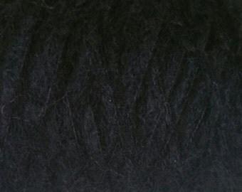 Designer Mohair Yarn (78%) Luxurious Mohair Double Knitting (light Worsted) 25g skein in Black