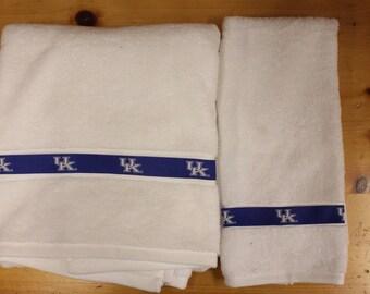 University of Kentucky UK Bath and Hand  Towel Set