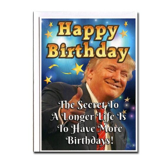 Amazon Com Funny Birthday Card Donald Trump Birthday: Donald Trump Funny Birthday Card Birthday Card Trump