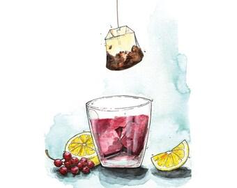 Currant Ice Tea - Karte - Getränk - Sommer