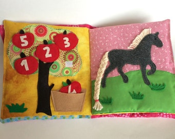 Farm Animals Quiet Book, Activity Book With Felt Animals, Busy Book, Gift Toy for kids