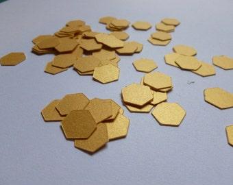 Gold Shimmer Metallic Geometric Confetti | Geometric Party Decor | Gold Confetti
