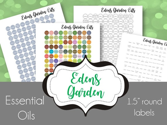Edens garden every oil labels for your essential oil caps Edens garden essential oils coupon