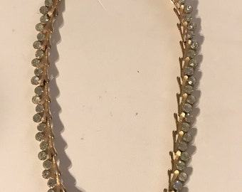 Vintage Trifari gold & rhinestone Necklace