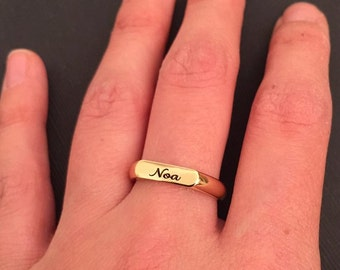 Pinky Ring for Women, Engraved ring, Personalized Ring, women ring, Gift for women, Stacking Rings, Gift for mom, Personalized Mommy Jewelry