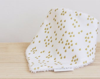 Collection Golden Rain, baby bandana bib