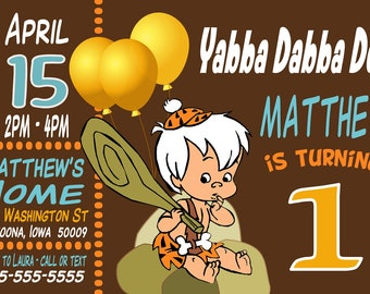il_340x270.1171554138_7ssm barney invitations etsy,Flintstones Birthday Invitations