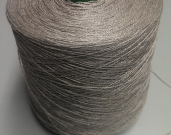 1 spool 1,0 kg linenyarn on cone 100% linen nature Nm 6/2 thread  flax