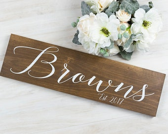 Rustic Wedding Decor - Bridal Shower Decor- Rustic Wedding Signs - Woodland Wedding - Wedding Signage - Last Name Sign - Gift For Bride