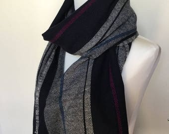 Cashmere scarf. Hand woven shawl. Handmade wrap. Gift idea. Gift for Him. Gift for Her. Hand woven scarf. Woven accessory. Wool scarf