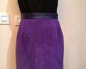 Skirt vintage purple color suede of the SNOOKER PARIS brand