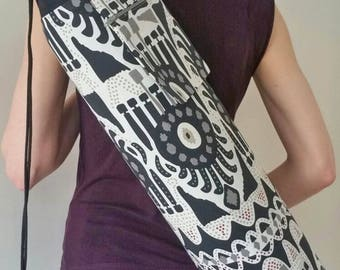 NEW DESIGN* Monochrome, Large Yoga Mat Bag with zipped pocket