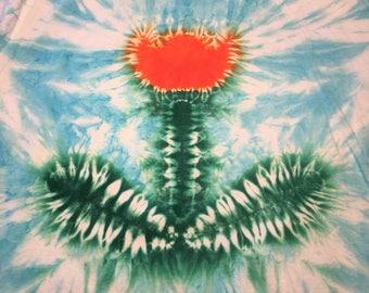 2xx  orange tulip tye dye adult hanes tshirt 2xx Hand tyed tie dye