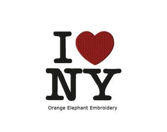 I love New York Unique Urban Machine Embroidery Design digital File
