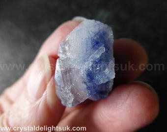 Rare New Dumortierite In Quartz   (6.0  grams / 24 mm) Natural Freeform Piece (17) 'Bahia, Brazil'  - FREE UK POSTAGE
