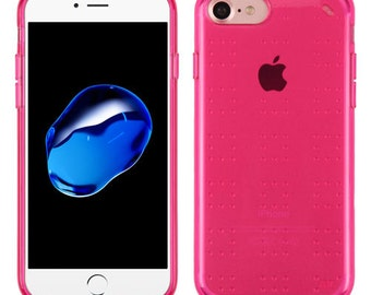 Transparent / Hot PINK iPhone 7 / 8 TPU Gel  Case