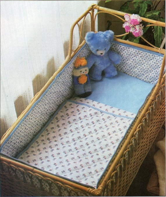 Baby Bedding Set Amp Bumper Sewing Pattern Pdf Download Crib