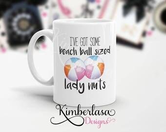 beach ball sized lady nuts mug, walking dead inspired mug, twd mug, zombie mug, walking dead mug, negan quote, negan mug, sasha mug