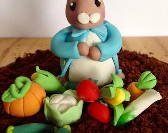 Edible Peter Rabbit Cake Topper Decoration