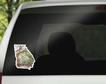 cool laptop sticker - Georgia Car Decal - Georgia State Decal- Georgia Sticker - Home State Decal - MacBook Sticker - Georgia Gift - Womsloe