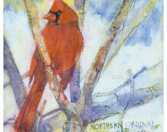 Backyard Bird Series, Northern Cardinal - giclee print from original